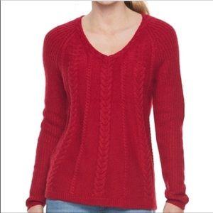 Sonoma • red sweater